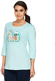 Factory Quacker All is Bright Holiday Bling 3/4Sleeve T-shirt