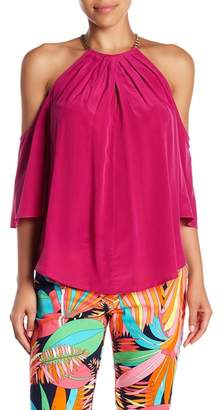 Trina Turk Audree Cold Shoulder Blouse