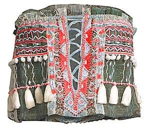 Ramy Brook Women's Alessia Strapless Tassel Top
