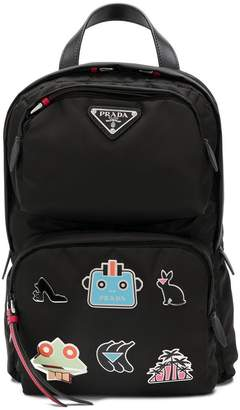 Prada patches backpack