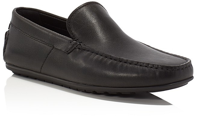 Hugo BossHugo Boss Traleo Embossed Leather Loafers