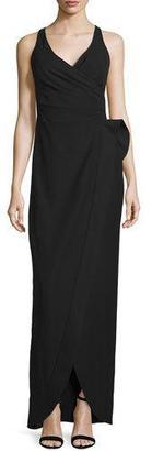 Armani Collezioni Sculpted-Waist Column Gown, Black $1,895 thestylecure.com