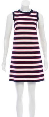Valentino Striped Sleeveless Dress