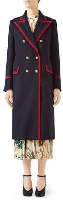 Gucci Military Wool-Cloth Coat