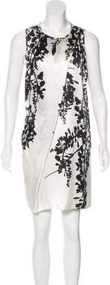 Ann Demeulemeester Silk Floral Print Dress