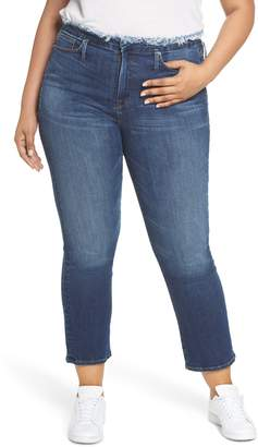 Good American Crop Straight Leg Jeans