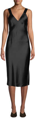 CAMI NYC Miki Silk Charmeuse V-Neck Slip Dress