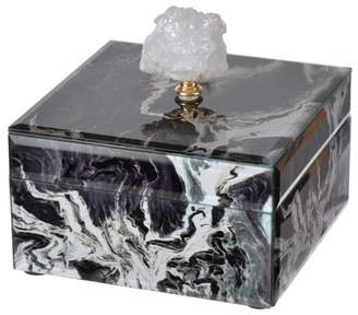 A&B Home Bethany Black Marble Jewelry Box