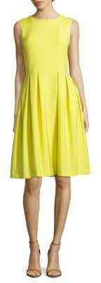ADAM by Adam Lippes Solid Pleated Dress