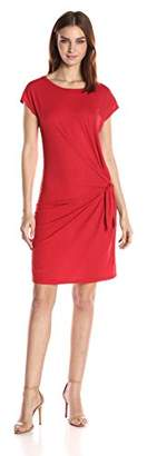 Velvet by Graham & Spencer Women's Cotton Slub Knot Side Tee Dress