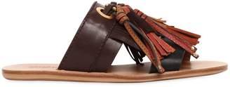 See by Chloe 10mm Tassels Leather Slide Sandals