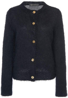 Versace Button Front Knit Cardigan