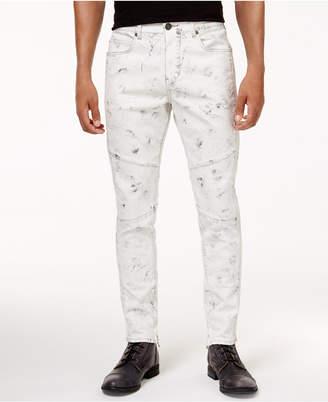 True Religion Men's Mick Slim-Fit Stretch Moto Jeans