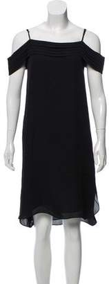 Alexander Wang Cold-Shoulder Silk Dress