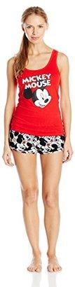 Disney Women's Ladies Cotton Tank with Plush Short Set Mickey $24.99 thestylecure.com