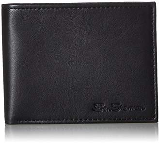 Ben Sherman Men's Kensington Sheepskin Leather Passcase Wallet