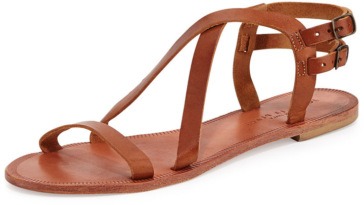 Joie Socoa Strappy Leather Sandal, Cognac