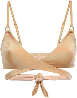 Melissa Odabash Indonesia Metallic Triangle Wrap Bra