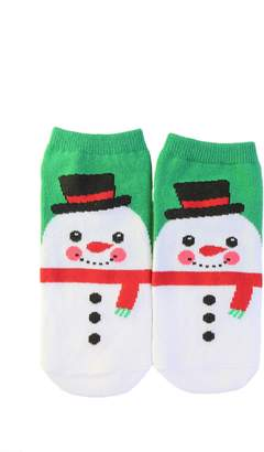 Forever 21 Snowman Graphic Ankle Socks