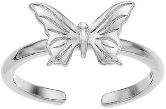 Sterling Summer Butterfly Toe Ring