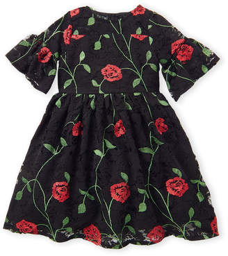 Pippa & Julie Toddler Girls) Embroidered Poppy Lace Dress
