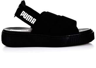Puma Select Black Elastic Straps Sandals