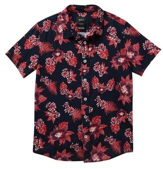 RVCA MC Floral Short Sleeve Shirt (Big Boys)