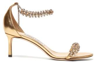 Jimmy Choo Shiloh 60 Crystal Embellished Sandals - Womens - Gold
