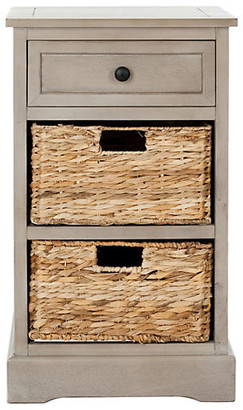 One Kings Lane Kendall Side Storage Table - Taupe