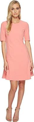 Ellen Tracy Women's Seamed Flouncedress