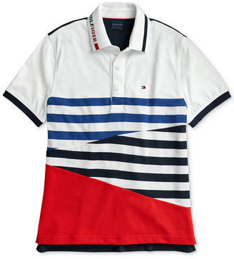 0bbc1b6d1 Tommy Hilfiger Adaptive Men Colorblocked Stripe Polo with Magnetic Closures