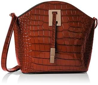 Womens Charlotte Croc Patent Leather Shoulder Bag Tan Cross-Body Bag Swankyswans uSe2O0mL2