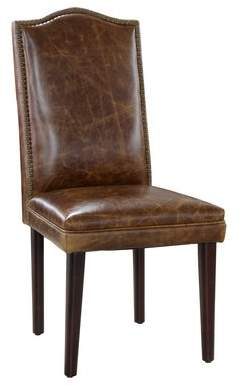 Lazzaro Leather Leather Side Chair Lazzaro Leather