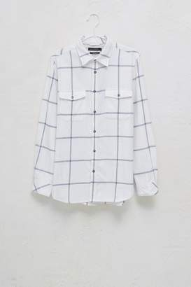 French Connenction Windowpane Flannel Shirt