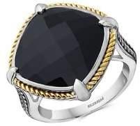 Effy 18K Yellow Gold, 925 Sterling Silver & Onyx Ring