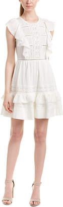 Rebecca Taylor Lace-Trim A-Line Dress