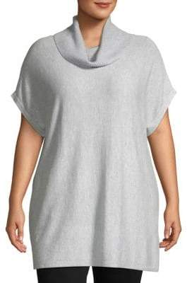 Vince Camuto Plus Heathered Dolman-Sleeve Sweater