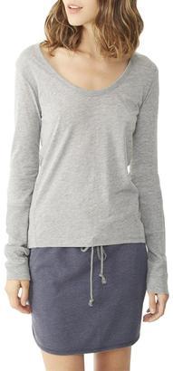 Alternative Apparel Rib Sleeve T-Shirt $42 thestylecure.com