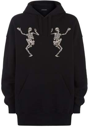 Alexander McQueen Embellished Dancing Skull Hoodie