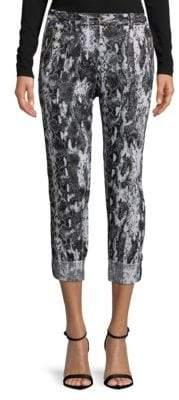 Calvin Klein Printed Linen Capri Pants