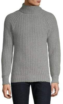 Officine Generale Scottish Wool Turtleneck Sweater