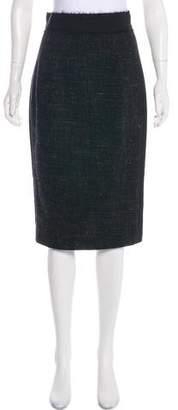 Giambattista Valli Tweed Knee-Length Skirt