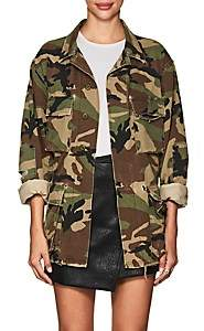 Adaptation Women's Embroidered Camouflage Cotton Field Jacket Size M