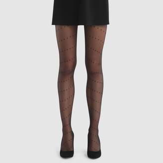 8d1bd6b92fdeb Black Patterned Tights - ShopStyle UK