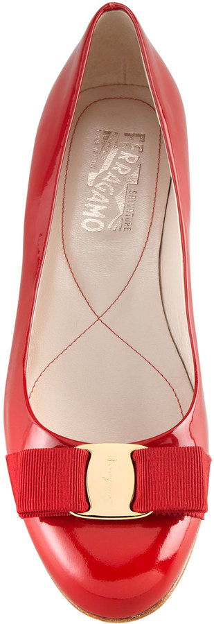 Salvatore Ferragamo Varina Patent Ballerina Flat