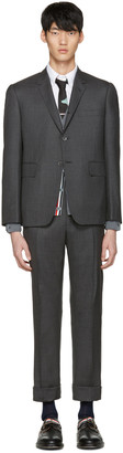 Thom Browne Grey Classic Suit $2,590 thestylecure.com