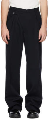 Jil Sander Black Wool Roland Trousers