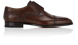Christian Louboutin Men's Cousin Charles Flat Leather Bluchers - Brown