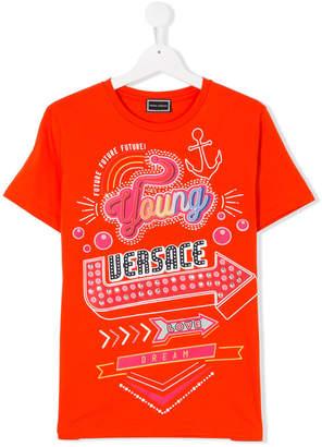 Versace TEEN printed T-shirt