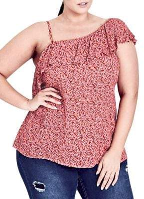 City Chic Plus Baby Blossom Top